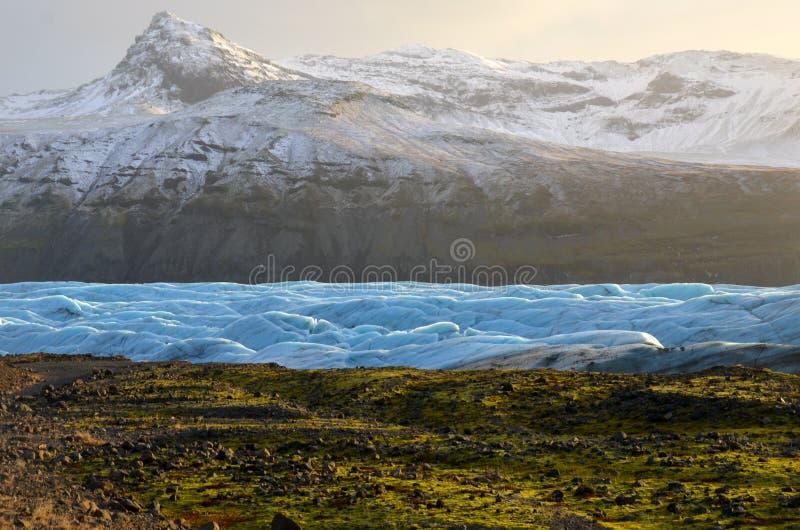 Geleira de Skaftafellsjokull em Islândia, parte do parque nacional de Vatnajokull imagem de stock