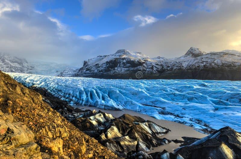 Geleira de Skaftafellsjokull, Islândia fotografia de stock royalty free