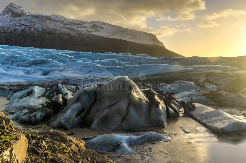 Geleira de Skaftafellsjokull, Islândia foto de stock royalty free