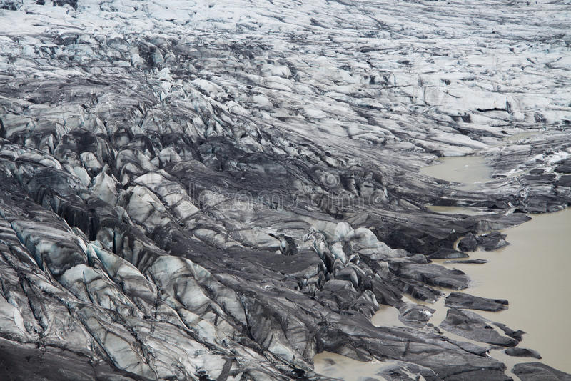 Geleira de Skaftafellsjokull, Skaftafell NP, Islândia imagens de stock royalty free