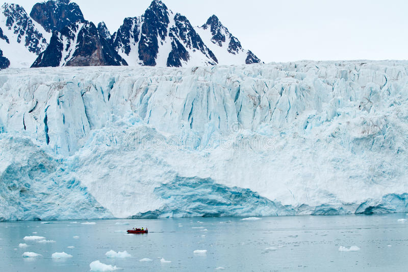 Geleira de Svalbard fotografia de stock royalty free