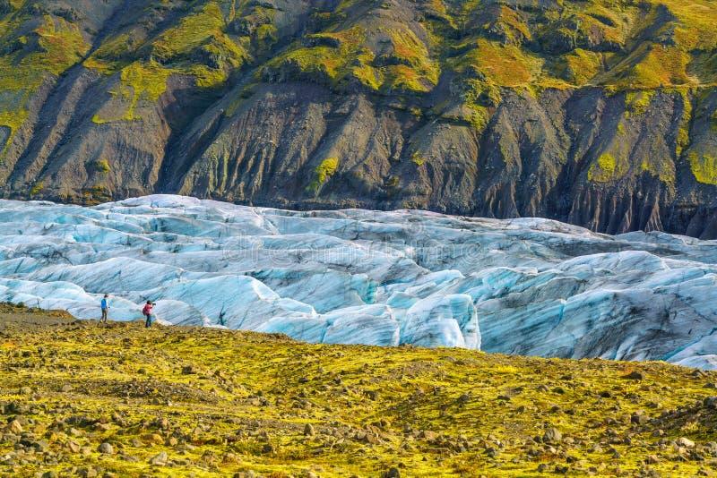 Geleira de Svinafellsjokull no parque nacional de Vatnajokull imagens de stock royalty free