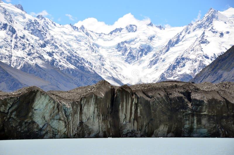 Geleira de Tasman no pé de Aoraki, lago Tasman, Nova Zelândia fotografia de stock