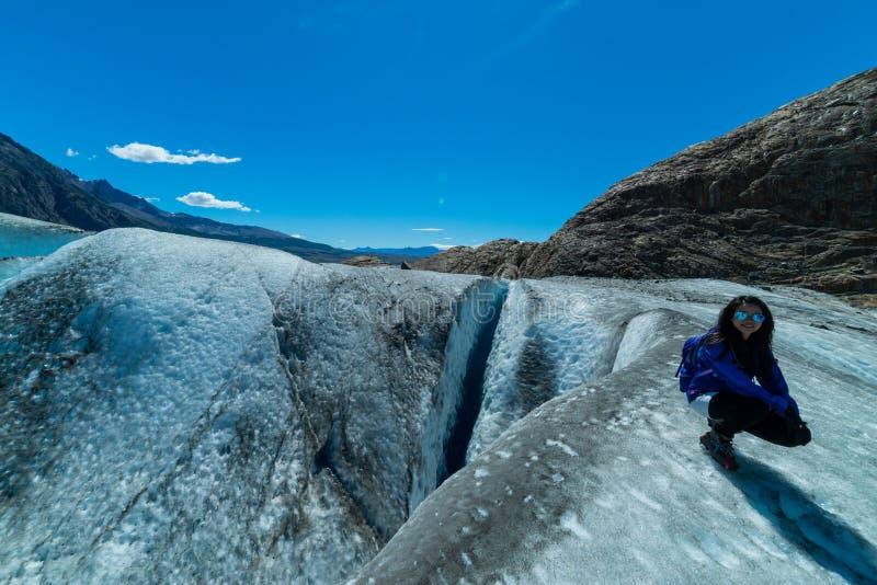 Geleira de Viedma, região do Patagonia de Argentina fotografia de stock royalty free