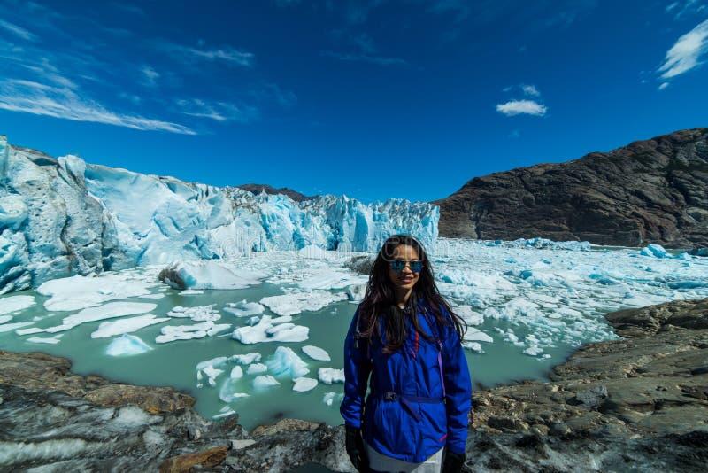 Geleira de Viedma, região do Patagonia de Argentina foto de stock royalty free