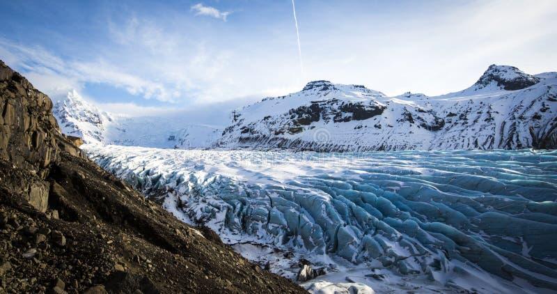 Geleira em Islândia imagens de stock