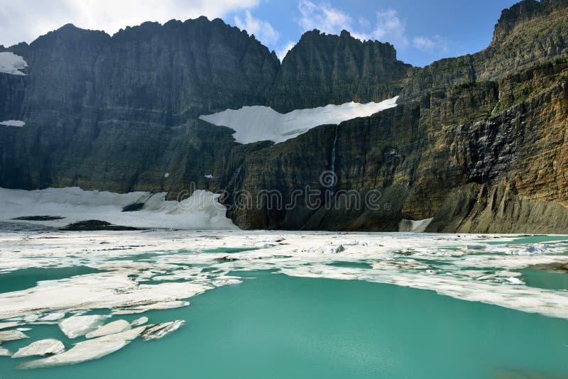 Geleira em muitas geleiras, parque nacional de Grinnell de geleira, Montana foto de stock royalty free