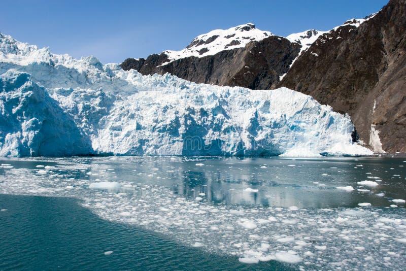 Geleira em Seward, Alaska de Hubbard imagem de stock