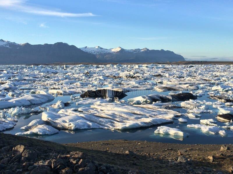 Geleira islandêsa da paisagem fotografia de stock