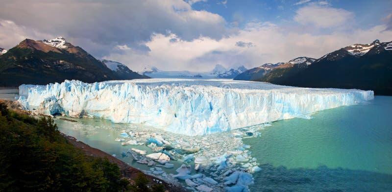 Geleira no Patagonia, Ámérica do Sul de Perito Moreno imagens de stock royalty free