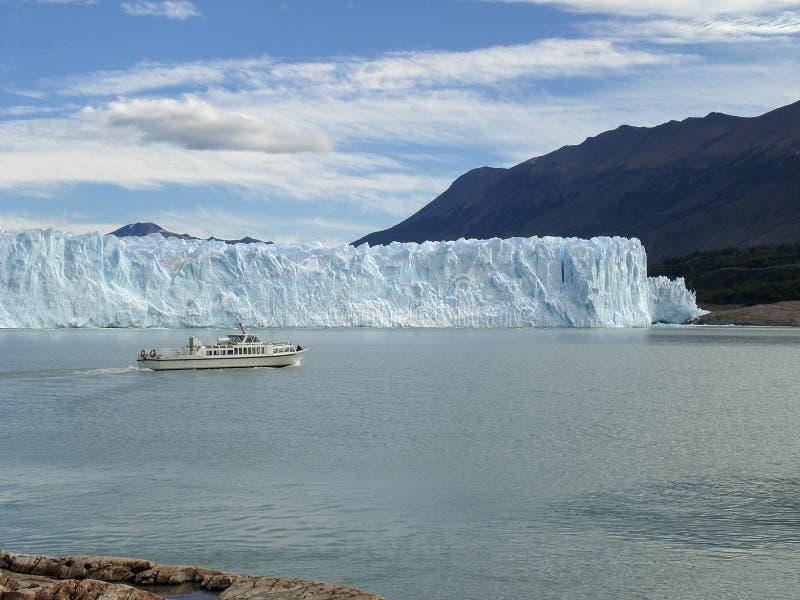 A geleira no Patagonia, Argentina de Perito Moreno. foto de stock