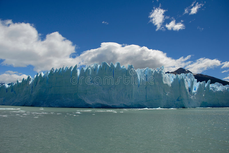 A geleira no Patagonia, Argentina de Perito Moreno. fotografia de stock