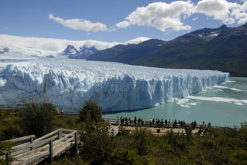 A geleira no Patagonia, Argentina de Perito Moreno. fotografia de stock royalty free