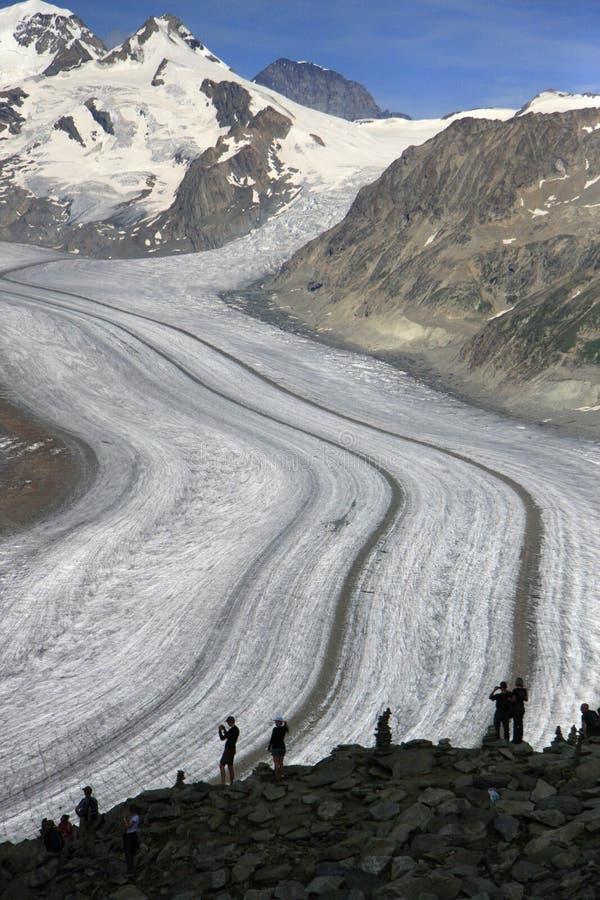 Geleira Switzerland de Aletschgletscher Aletsch fotografia de stock