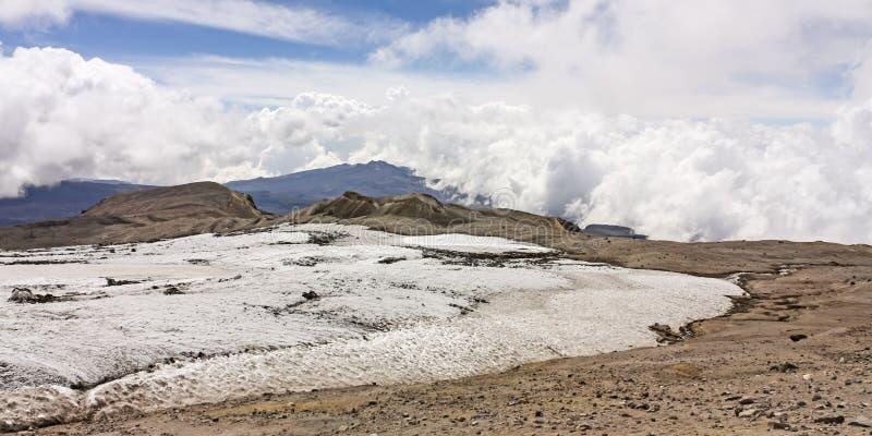 Geleira Vulcão Nevado del Ruiz fotos de stock