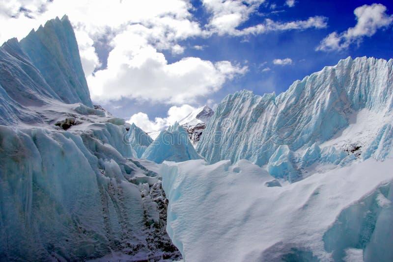 Geleiras em Monte Everest fotografia de stock royalty free