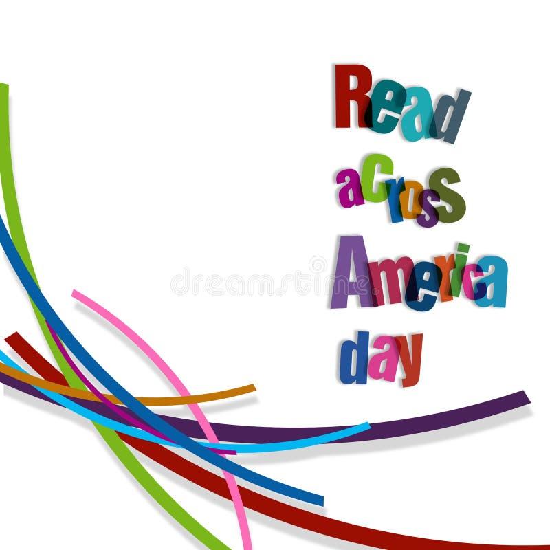 Gelesen über Amerika-Tag vektor abbildung