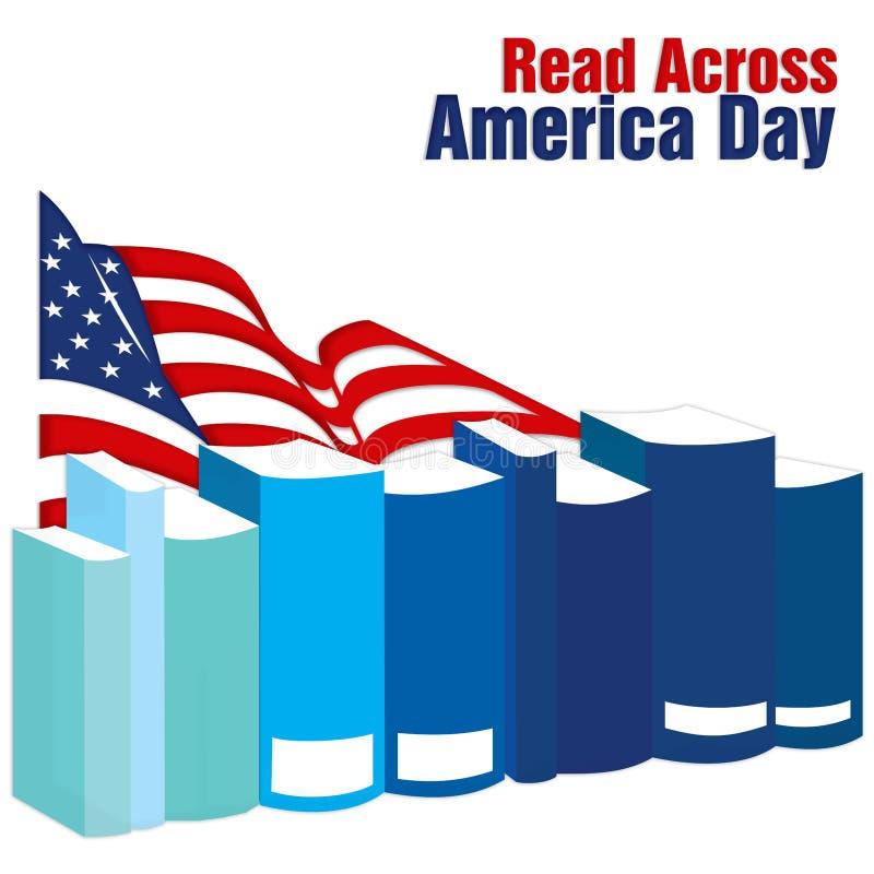 Gelesen über Amerika-Tag lizenzfreie abbildung
