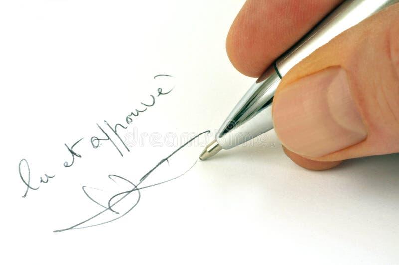 Gelesen und genehmigt geschrieben auf französisch vektor abbildung