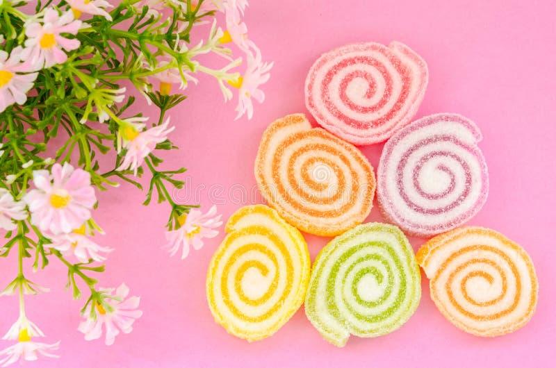Gelez le bonbon, fruit de saveur, dessert de sucrerie coloré photographie stock libre de droits
