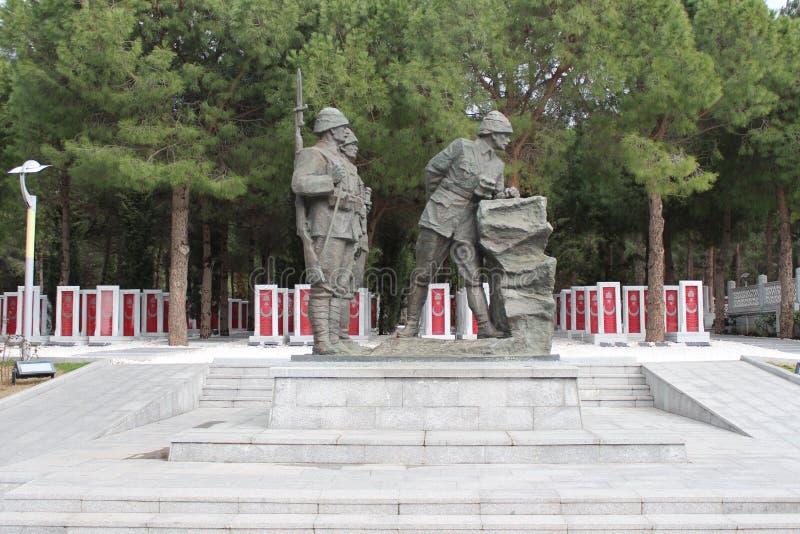 Gelibolu martyrdom moment. Çanakkale Gelibolu martyrdom memorial moment royalty free stock images