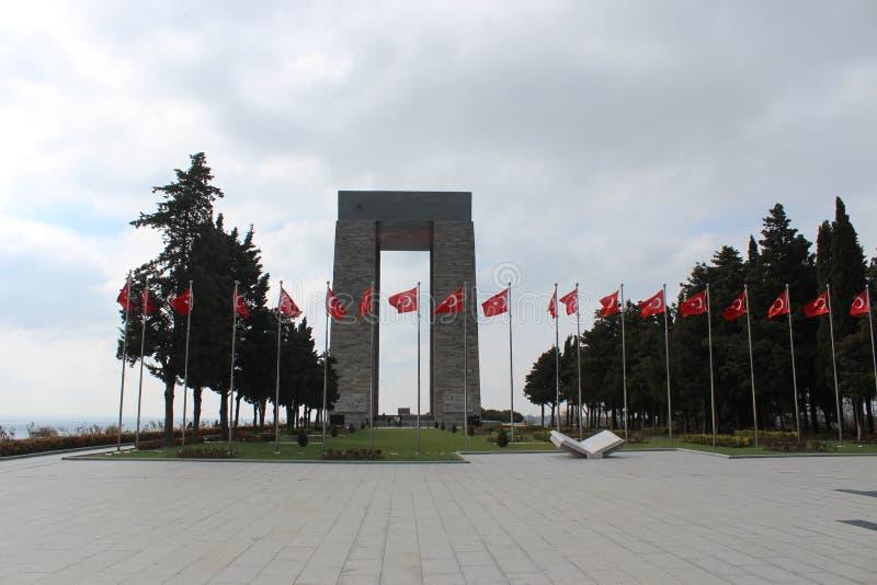 Gelibolu martyrdom moment. Çanakkale Gelibolu martyrdom memorial moment royalty free stock photos