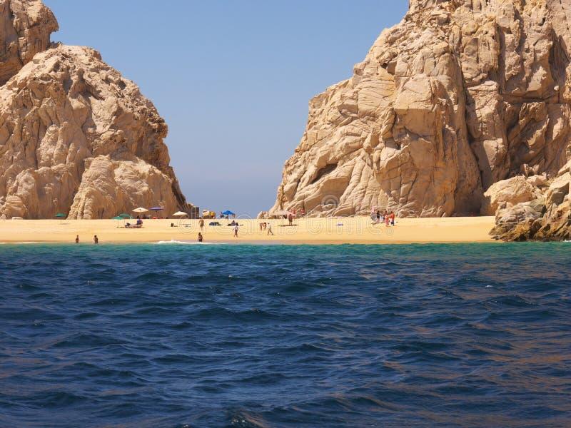 Geliebt-Strand bei Cabo Baja Mexiko stockbild