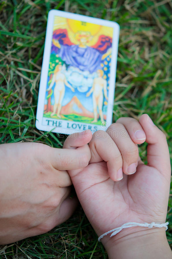 Geliebter Tarot bilden reale Liebe stockfotografie