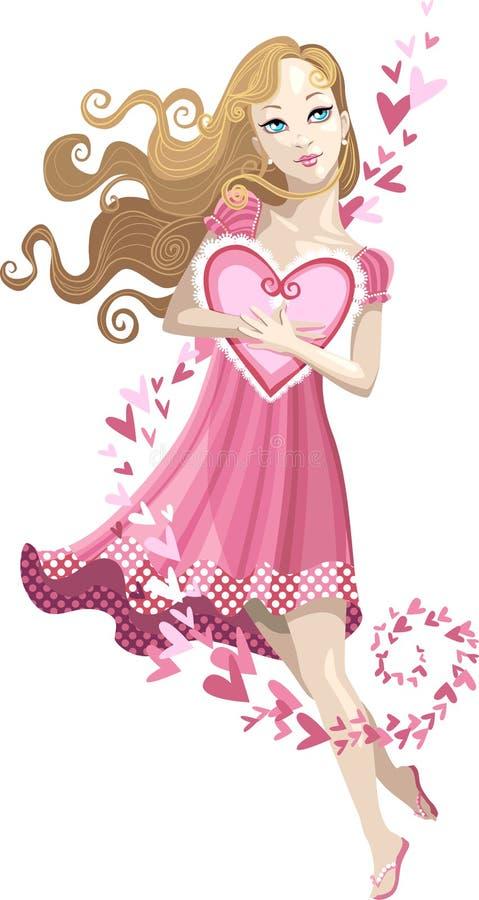 Geliefde Valentijnskaart royalty-vrije illustratie