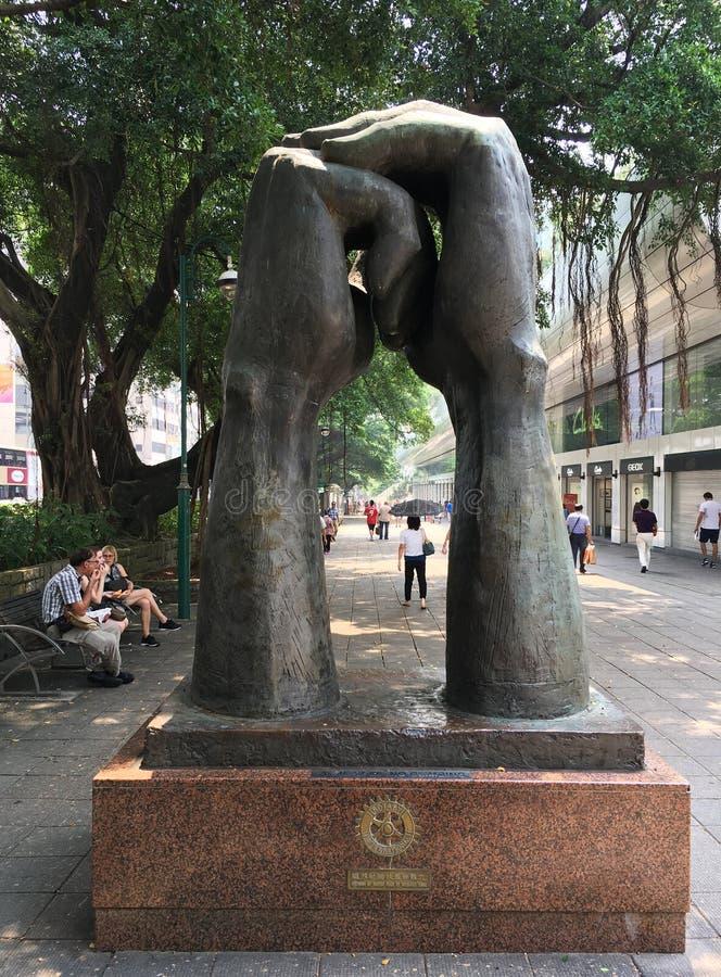 Gelieve te beeldhouwen in Hong Kong stock foto