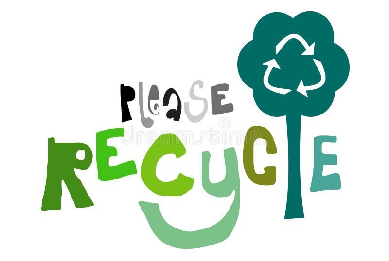 Gelieve te recycleren stock illustratie