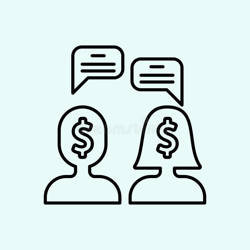 gelijke, geslachten, mensen, het pictogram van de toespraakbel Element van Feminisme voor mobiel concept en webtoepassingenpictog royalty-vrije illustratie