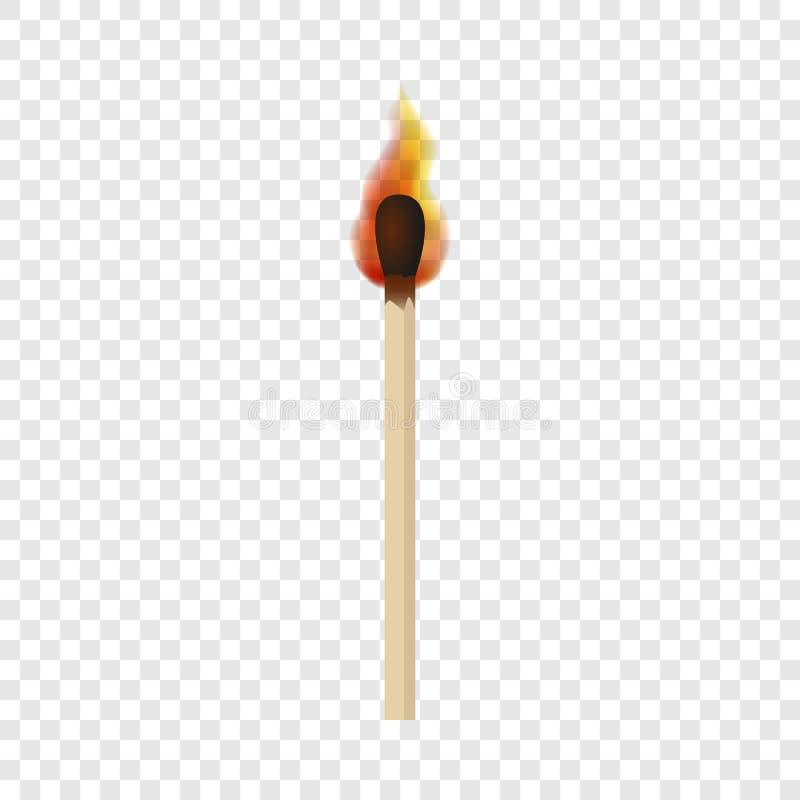 Gelijke met het model van de brandvlam, realistische stijl stock illustratie