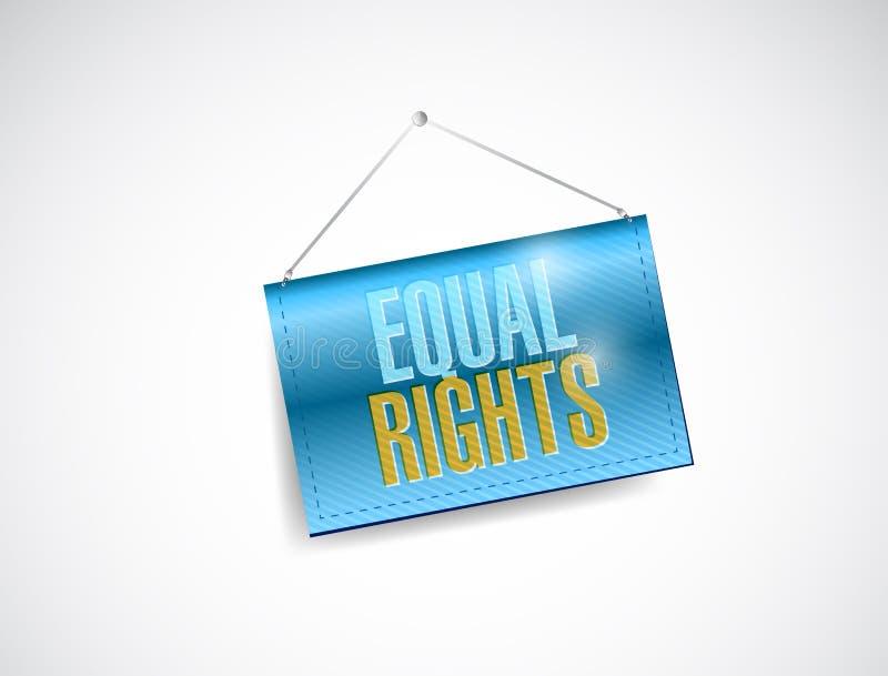 Gelijke rechten die tekenillustratie hangen royalty-vrije illustratie