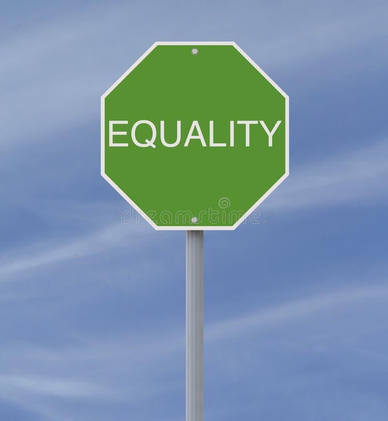 Gelijkheid royalty-vrije illustratie