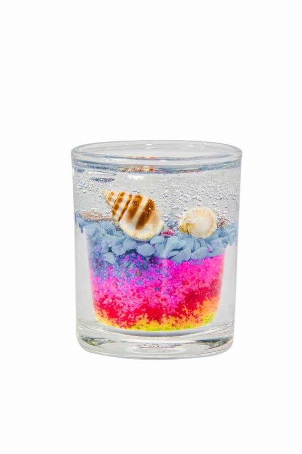 Gelkaars in glas stock afbeelding