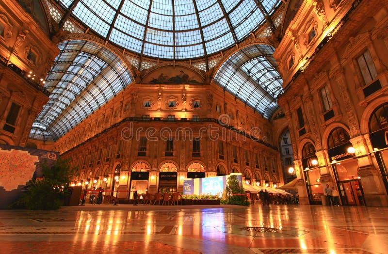 Gelleria Vittorio Emanuele II in Milan stock photography