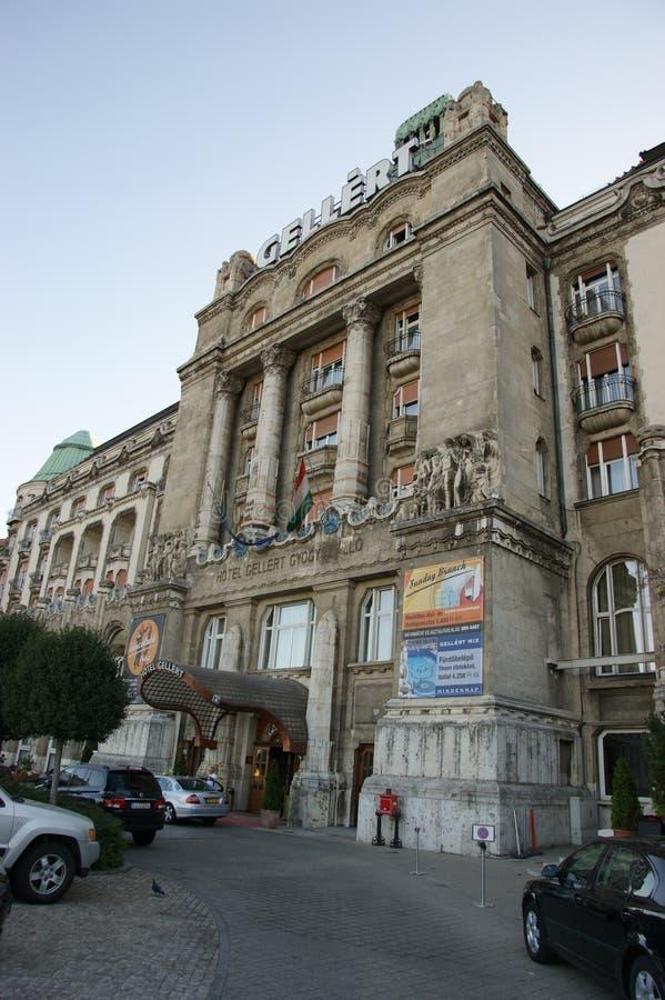 Gellert hotell och Thermal royaltyfria bilder