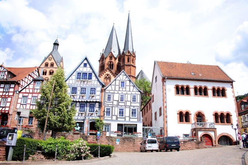 Gelnhausen Hessen, Tyskland arkivbilder