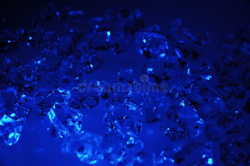 Gelo azul imagem de stock