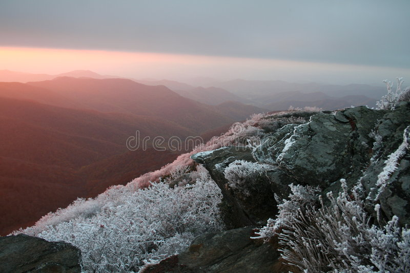Gelo Craggy do Rime imagem de stock royalty free