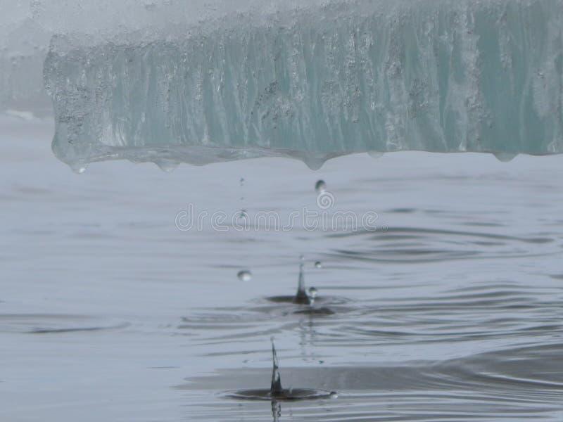 Gelo de derretimento no rio Ele mola do ` s imagens de stock