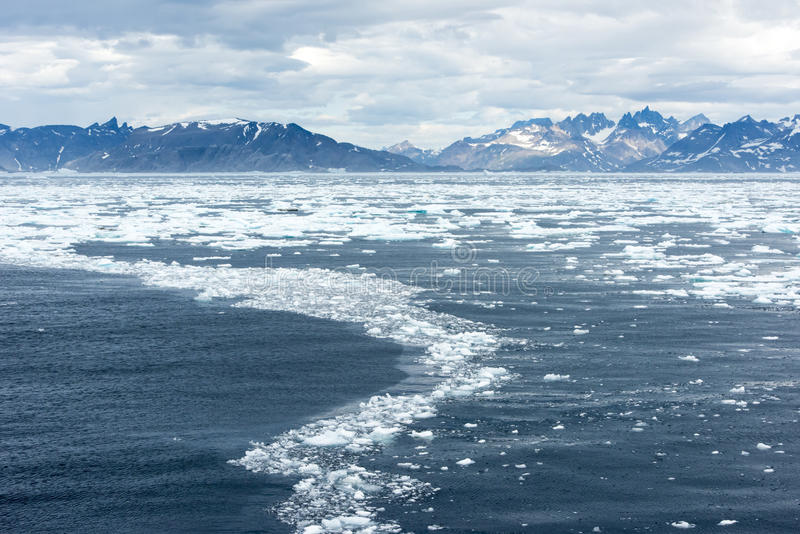 Gelo de flutuação, Gronelândia fotos de stock