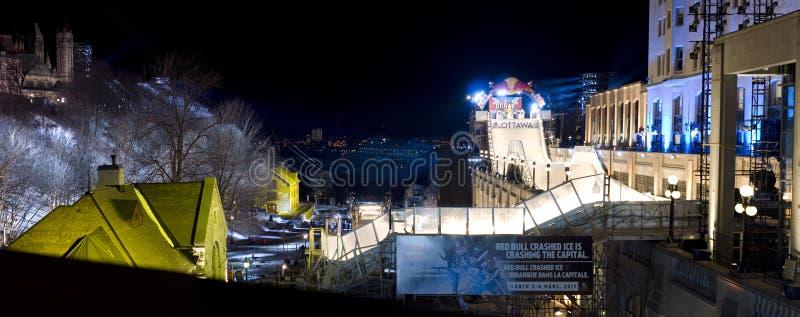 Gelo do impacto de Red Bull em Ottawa 2017 fotografia de stock