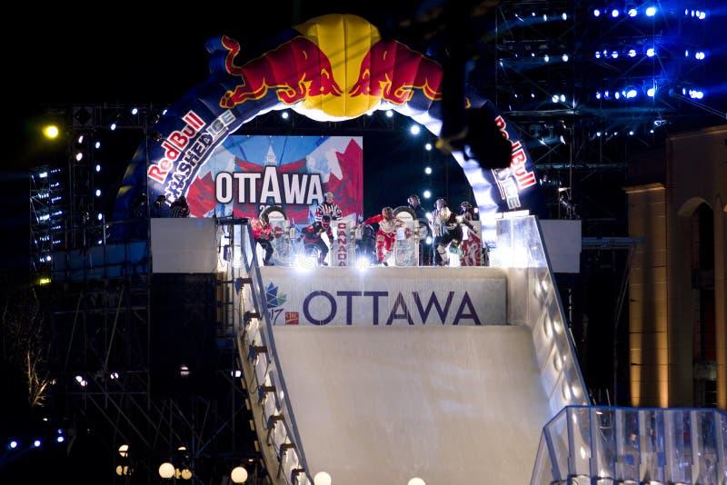 Gelo do impacto de Red Bull em Ottawa 2017 imagem de stock royalty free