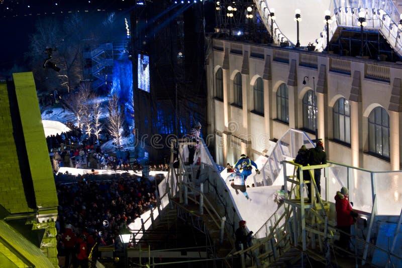 Gelo do impacto de Red Bull em Ottawa 2017 fotos de stock royalty free