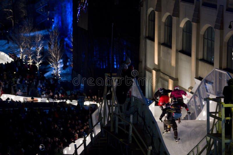 Gelo do impacto de Red Bull em Ottawa 2017 fotografia de stock royalty free
