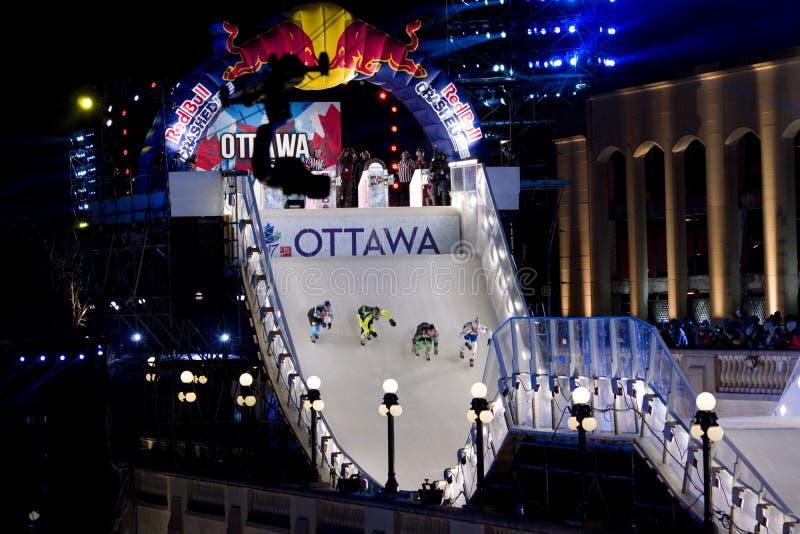 Gelo do impacto de Red Bull em Ottawa 2017 imagens de stock