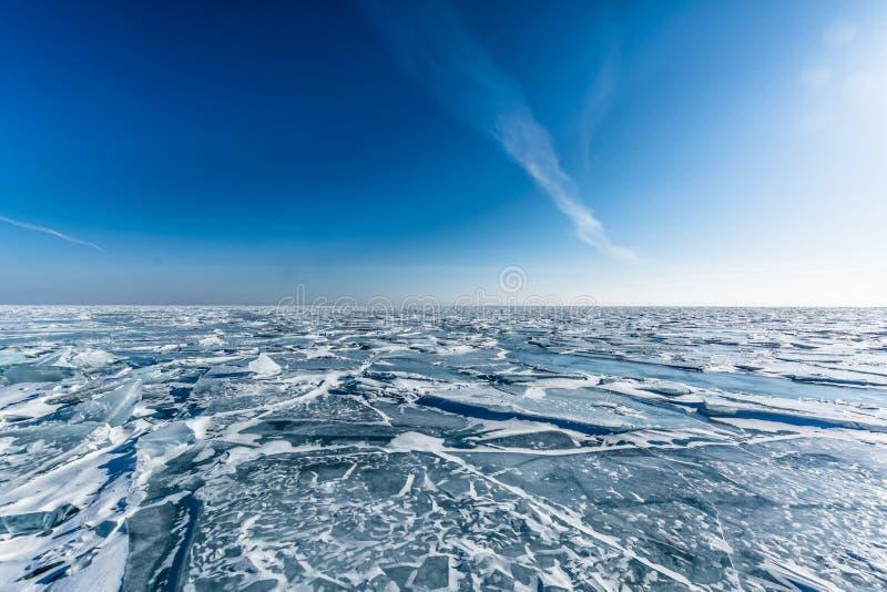 Gelo do Lago Baikal fotos de stock
