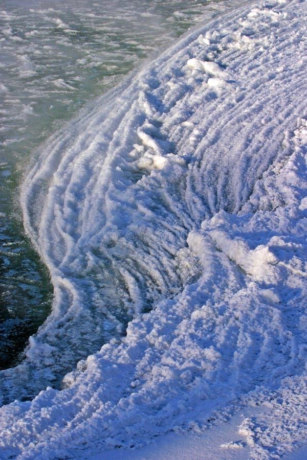 Gelo do rio acima imagem de stock